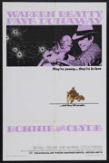 """Movie Posters:Crime, Bonnie and Clyde (Warner Brothers, 1967). One Sheet (27"""" X 41"""").Crime. Starring Warren Beatty, Faye Dunaway, Michael J. Pol..."""