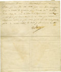 "Autographs:Non-American, Rare Napoleon Bonaparte Letter Signed ""Napoleon"", one page,St. Cloud, October 29, 1804 (7 Brumaire XIII) to Monsieur Du..."