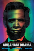 Collectible:Contemporary, Ron English (b. 1959). Abraham Obama (Red, White, and Blue), 2009. Lenticular rainbow flip print with screenprinted lett...