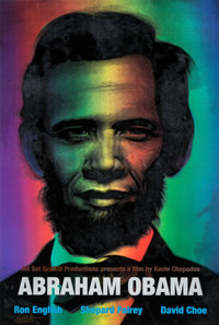 Ron English (b. 1959) Abraham Obama (Red, White, and Blue), 2009 Lenticular rainbow flip print with