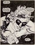 Original Comic Art:Splash Pages, Gil Kane Green Lantern #156 Original Art Splash Page 1 (DC,1982).
