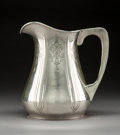 Silver & Vertu:Pitchers, A Randahl Shop Silver Water Pitcher, Chicago, Illinois, circa 1930. Marks: (hammer-OR), HAND WROUGHT, STERLING, 1407, 5PTS...