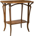 Furniture , An Émile Gallé Two-Tier Marquetry Inlaid Walnut Side Table, Nancy, France, early 20th century . Signed: GALLÉ. 30 x 29-3...