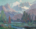 , Orrin White (American, 1883-1969). A River in the High Sierras. Oil on canvas. 24 x 29-3/4 inches (61.0 x 75.6 cm). Sign...