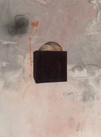 Sterling Ruby (b. 1972) Smith on Marbelized Paper 3, 2007 India Ink, acrylic, and collage on paper
