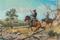 Fine Art - Painting, American, Bud Breen (American, 1927-2005)On the Trail...