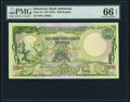 Indonesia Bank Indonesia 2500 Rupiah ND (1957) Pick 54 PMG Gem Uncirculated 66 EPQ