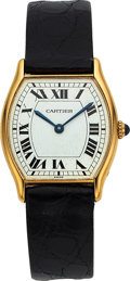 "Timepieces:Wristwatch, Cartier, ""Tortue"", 18k Yellow Gold, ""Spider Dial"", Manual Wind, Circa 1980's. ..."