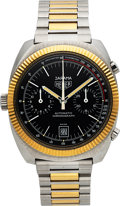 Timepieces:Wristwatch, Heuer, Jarama Ref. 110.245, Steel and Gold, Chronomatic Cal. 12, Circa 1970's. ...