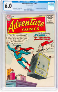 Adventure Comics #210 (DC, 1955) CGC FN 6.0 White pages