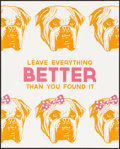 """Movie Posters:Miscellaneous, Facebook Motivational Poster (Facebook, 2010s). Near Mint. Poster(16"""" X 20""""). """"Leave Everything Better Than You Foun..."""