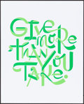 Movie Posters:Miscellaneous, Facebook Motivational Poster (Facebook, 2010s). Near Mint....