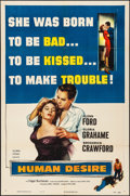 "Movie Posters:Film Noir, Human Desire (Columbia, 1954). Folded, Very Fine-. One Sheet (27"" X41""). Film Noir.. ..."