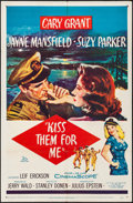 Movie Posters:Comedy, Kiss Them for Me (20th Century Fox, 1957). Folded, Fine/Ve...
