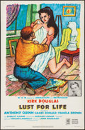 """Movie Posters:Drama, Lust for Life (MGM, 1956). Folded, Very Fine. One Sheet (27"""" X41""""). Drama.. ..."""