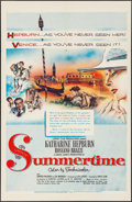 "Movie Posters:Romance, Summertime (United Artists, 1955). Folded, Very Fine. One Sheet (27"" X 41""). Romance.. ..."