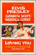 "Movie Posters:Elvis Presley, Loving You (Paramount, 1957). Folded, Fine. One Sheet (27"" X 41""). Elvis Presley.. ..."