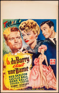 "Movie Posters:Comedy, Du Barry Was a Lady (MGM, Late 1940s). Rolled, Fine/Very Fine.First Release Belgian (14.25"" X 23""). Comedy.. ..."