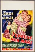 "Movie Posters:Comedy, Grounds for Marriage (MGM, 1951). Rolled, Very Fine. Belgian (14"" X21.5""). Comedy.. ..."