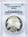 2001-P $1 Buffalo PR70 Deep Cameo PCGS. PCGS Population: (2130). NGC Census: (2179). CDN: $275 Whsle. Bid for NGC/PCGS P...