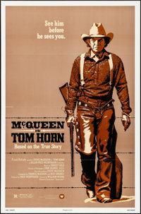 "Tom Horn (Warner Brothers, 1980). Folded, Very Fine. One Sheet (27"" X 41"") & Photos (9) (8"" X 10&..."