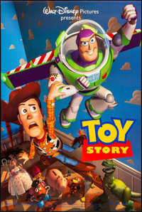 "Toy Story (Buena Vista, 1995). Rolled, Very Fine. One Sheets (2) (27"" X 40"") SS, Advance, Two Styles. Animatio..."