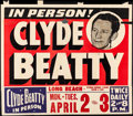 Movie Posters:Miscellaneous, Clyde Beatty at Long Beach Veterans Memorial Stadium (1950...