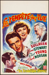 """The Mortal Storm (MGM, Late 1940s). Rolled, Very Fine. First Release Belgian (14"""" X 21.75""""). War"""