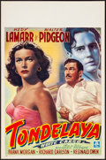 "Movie Posters:Drama, White Cargo (MGM, 1940s). Rolled, Very Fine+. First Post WarBelgian (14"" X 21.5""). Drama.. ..."