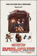 "Movie Posters:Western, 100 Rifles & Other Lot (20th Century Fox, 1969). Folded,Overall: Fine/Very Fine. One Sheets (2) (27"" X 41""). Western.. ...(Total: 2 Items)"