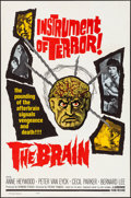 Movie Posters:Horror, The Brain (Governor Films, 1964). Folded, Very Fine+.