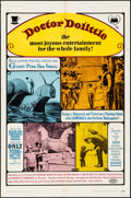 "Movie Posters:Fantasy, Doctor Dolittle (20th Century Fox, 1968). Folded, Fine+. One Sheet(27"" X 41""). Fantasy.. ..."