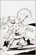 Original Comic Art:Covers, Jim Starlin and Robert Hunter Superman Unchained #3 Variant Cover E Original Art (DC, 2013)....