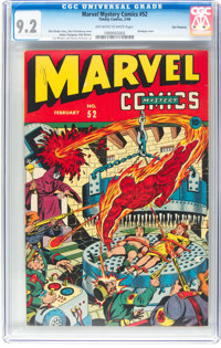 Marvel Mystery Comics #52 San Francisco Pedigree (Timely, 1944) CGC NM- 9.2 Off-white to white pages