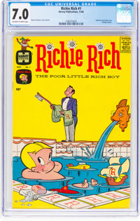 Richie Rich #1 (Harvey, 1960) CGC FN/VF 7.0 Off-white to white pages