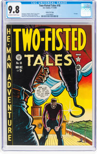 Two-Fisted Tales #18 Gaines File Pedigree 3/7 (EC, 1950) CGC NM/MT 9.8 Off-white to white pages