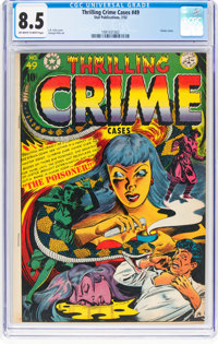 Thrilling Crime Cases #49 (Star Publications, 1952) CGC VF+ 8.5 Off-white to white pages