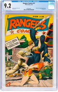 Golden Age (1938-1955):War, Rangers Comics #21 (Fiction House, 1945) CGC NM- 9.2 Off-white to white pages....