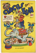 Golden Age (1938-1955):Funny Animal, Circus of Fun #1 Library of Congress copy (A.W. Nugent, 1945)Condition: VF+....