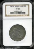 Seated Half Dollars: , 1842-O 50C Small Date, Small Letters VF20 NGC....