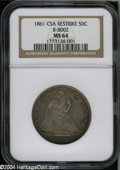 Confederate States of America: , 1861 50C Scott Restrike MS64 NGC....