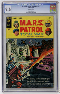 M.A.R.S. Patrol Total War #6 (Gold Key, 1968) CGC NM+ 9.6 Off-white pages