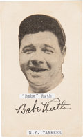 Baseball Collectibles:Others, Circa 1930 Babe Ruth Signed Cut Signature, PSA/DNA NM-MT 8....