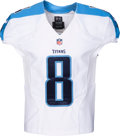 Football Collectibles:Uniforms, 2015 Marcus Mariota Game Issued & Signed Tennessee Titans Rookie Jersey....