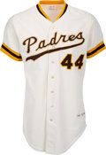 Baseball Collectibles:Uniforms, 1975 Willie McCovey Game Worn San Diego Padres Jersey....