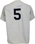 Baseball Collectibles:Uniforms, 1990's Joe DiMaggio Signed New York Yankees Jersey. ...