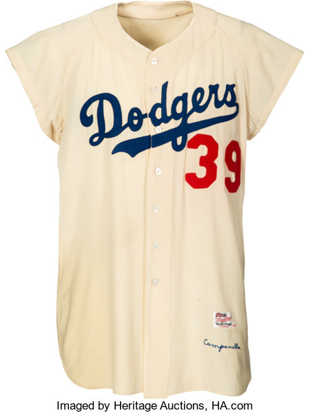 best sneakers cb1bb ee993 1956 Roy Campanella Game Worn Brooklyn Dodgers Jersey, MEARS ...