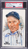 Autographs:Post Cards, 1981 Red Ruffing Signed Signed Perez-Steele Postcard, PSA/DNA Mint 9....