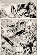 Original Comic Art:Panel Pages, Michael Golden and Armando Gil Avengers Annual #10 Story Page 7 First Appearance of Rogue Original Art (Marvel, 19...