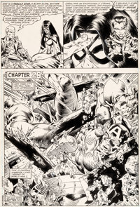Michael Golden and Armando Gil Avengers Annual #10 Story Page 7 First Appearance of Rogue Original Art (Marvel, 19